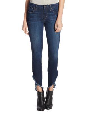 Joe's Icon Ankle Skinny Jeans With Frayed Hem