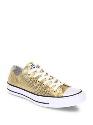 Converse Chuck Taylor All Star Metallic Leather Low-top Sneakers