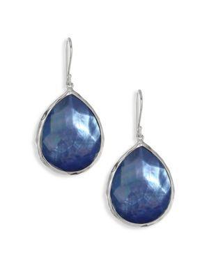 Ippolita 925 Rock Candy Blue Topaz Teardrop Earrings