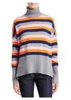 Cinq A Sept Layla Stripe Turtleneck Sweater