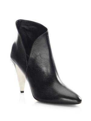 Michael Kors Collection Angelina Leather Point Toe Booties