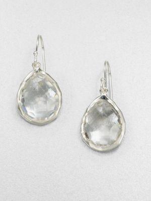 Ippolita Rock Candy Clear Quartz & Sterling Silver Mini Teardrop Earrings