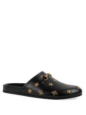 Gucci River Star Leather Clogs