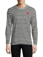 Comme Des Garcons Play Mini Heart Long Sleeve Cotton Tee