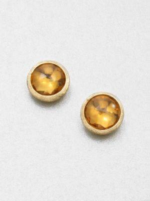 Marco Bicego Jaipur Citrine & 18k Yellow Gold Stud Earrings