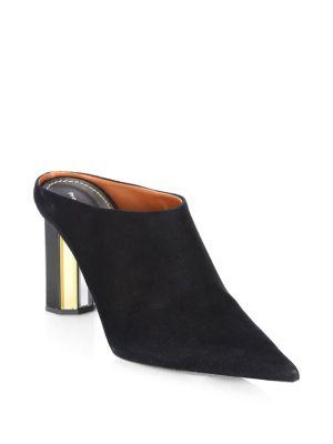 Proenza Schouler Point Toe Suede Mules