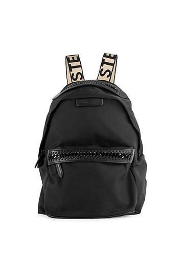 Stella Mccartney Small Nylon Chain Detail Backpack
