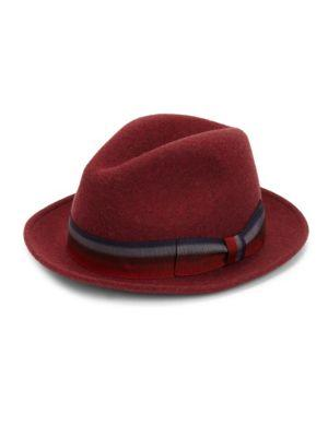 Saks Fifth Avenue Collection Grosgrain Wool Fedora Hat