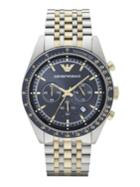 Emporio Armani Two-toned Stainless Steel Chronogrpah Watch