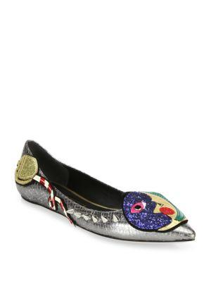 Marc Jacobs Night & Day Leather Ballerina Flats