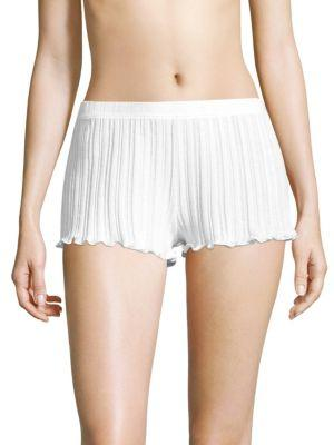Skin Ruffled Cotton Shorts