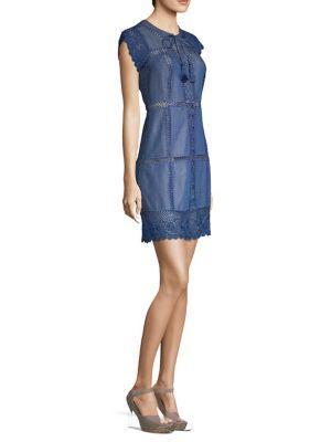Alice + Olivia Tona Patchwork Denim Dress
