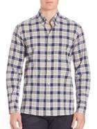 Ovadia & Sons Cotton-blend Plaid Shirt