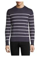 Eleventy Striped Crewneck Sweater