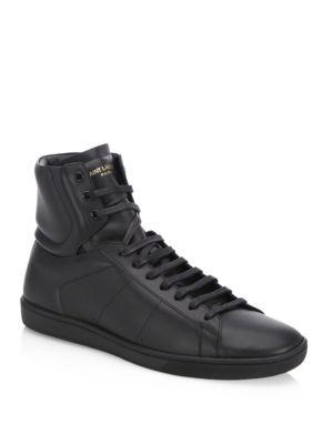 Saint Laurent Classic Leather High-top Sneakers