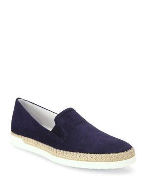 Tod's Suede Espadrille Skate Sneakers