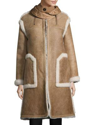 Moncler Cotoneaster Leather & Shearling Jacket