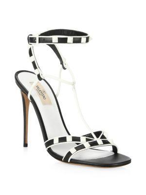 Valentino Garavani Ankle Strap Free Rockstud Sandal
