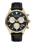 Movado Heritage Stainless Steel And Leather Watch