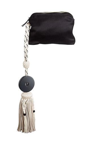 The Row Satin Tassel Wristlet