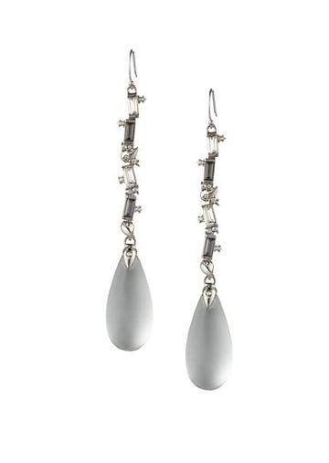 Alexis Bittar Crystal Baguette Linear Drop Wire Earrings