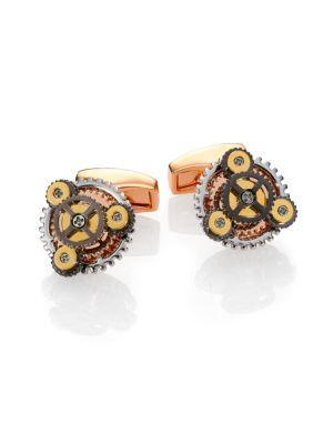 Tateossian Round Gear Cuff Links