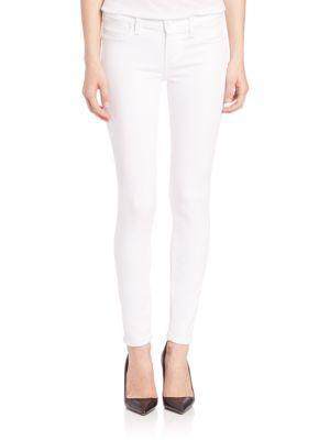 Paige White Mist Verdugo Skinny Ankle Jeans