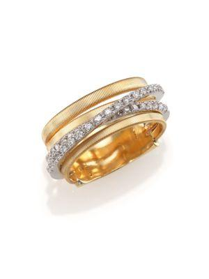 Marco Bicego Goa Diamond & 18k Yellow Gold Five-strand Ring