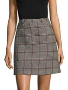 Carven Plaid Wool Skirt