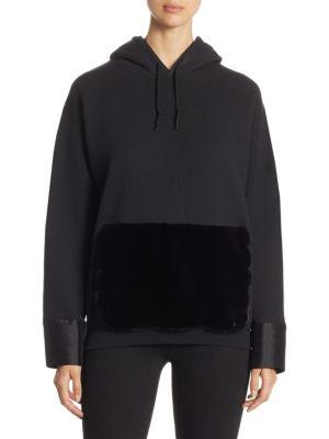 Harvey Faircloth Zippered Hoodie With Faux Fur