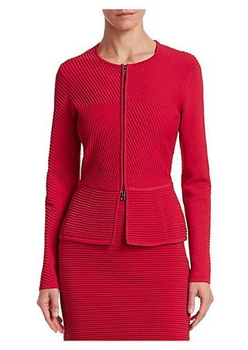 Emporio Armani Ottoman-knit Peplum Jacket