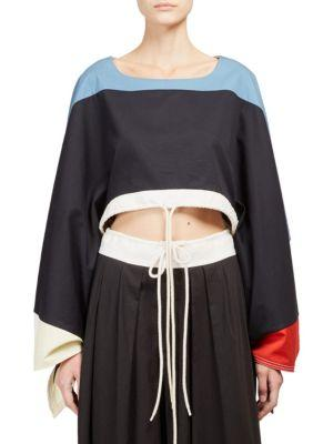 Chloe Cropped Colorblock Top