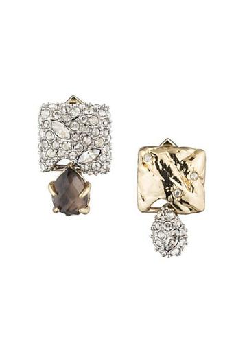 Alexis Bittar Earring Capsule 10k Gold-plated & Crystal-encrusted Mismatched Stud Earrings