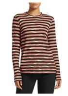 Proenza Schouler Printed Stripe Long-sleeve Top
