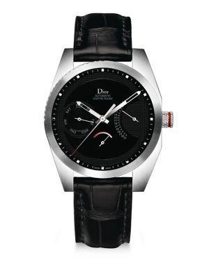Dior Chiffre Rouge Alligator Strap Timepiece
