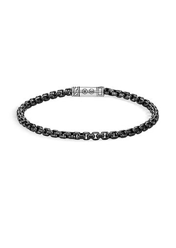John Hardy Classic Chain Blackened Sterling Silver Medium Bracelet