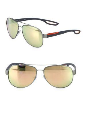 Prada Sport 59mm Injected Pilot Sunglasses