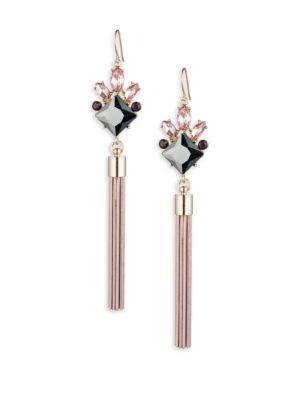 Abs By Allen Schwartz Jewelry Stone-accented Tassel Drop Earrings