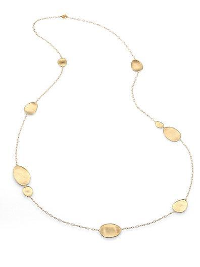 Marco Bicego Lunaria 18k Yellow Gold Station Necklace