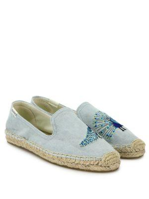 Soludos Peacock Embroidered Espadrilles