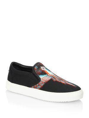Marcelo Burlon Lauren 3d Printed Slip-on Shoes