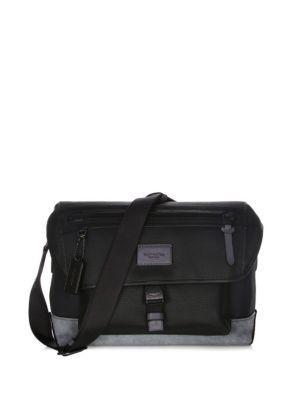 Coach Manhattan Textured Messenger Bag