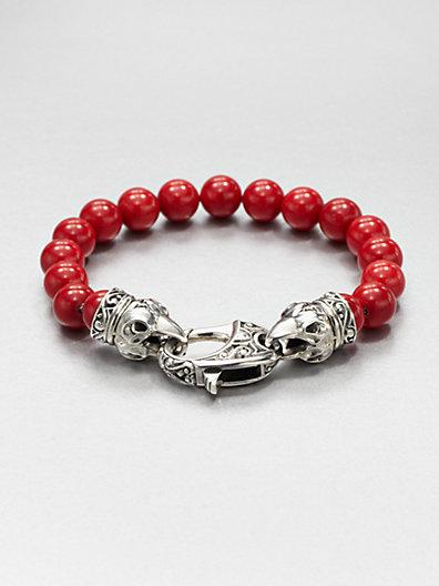 Stephen Webster Coral Beaded Bracelet