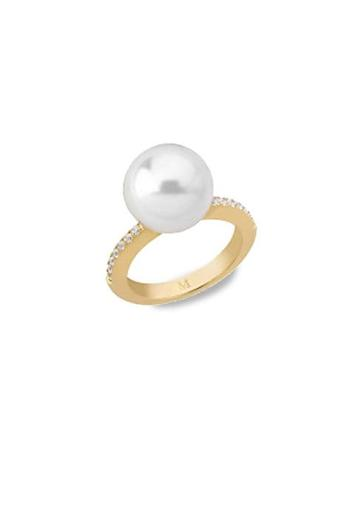 Majorica Round Pearl Cocktail Ring