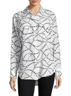 Equipment Signature Star Swirl Silk Shirt