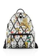 Mcm Motif Rombi Backpack