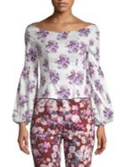 Amur Shanae Lilac-print Top