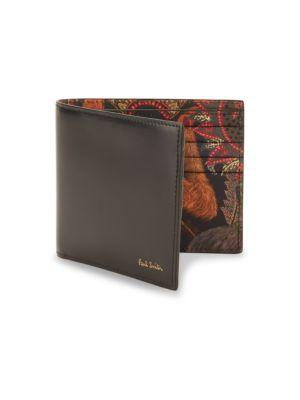 Paul Smith Animal-art Bifold Leather Wallet