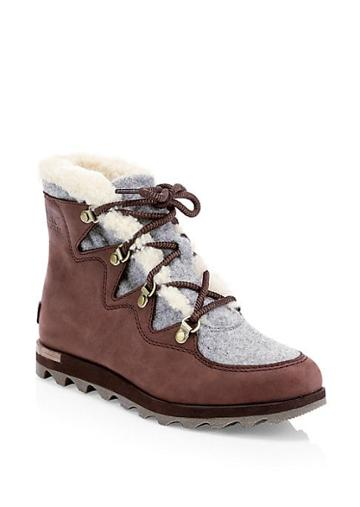 Sorel Sneakchic Alpine Shearling & Leather Boots