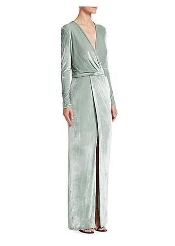 Galvan Vera Stretch Velvet Gown